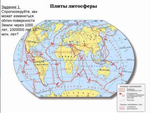 Задание 1. Спрогнозируйте, как может измениться облик поверхности Земли через