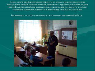 Цели и задачи профориентационной работы в 3 классе: продолжение развития обще