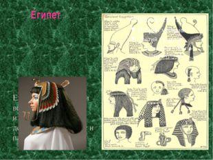 Египет Египтяне окрашивали волосы и ногти, изготовляли парики, делали завивку