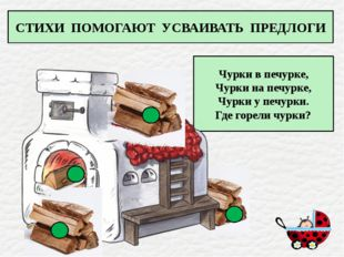 Чурки в печурке, Чурки на печурке, Чурки у печурки. Где горели чурки? СТИХИ