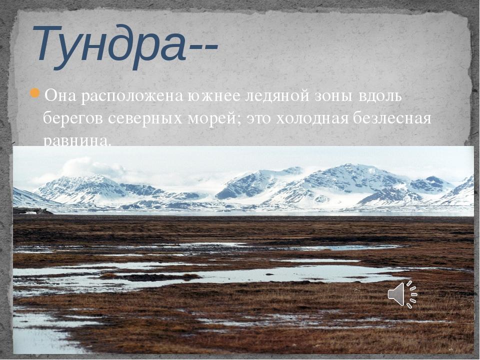 Она расположена южнее ледяной зоны вдоль берегов северных морей; это холодная...