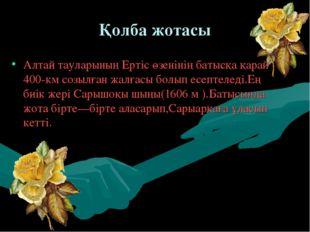 Қолба жотасы Алтай тауларының Ертіс өзенінің батысқа қарай 400-км созылған ж