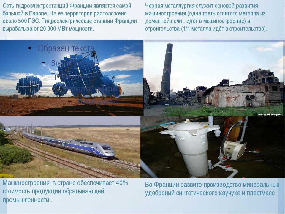 Сеть гидроэлектростанций Франции является самой большой в Европе. На ее терри...