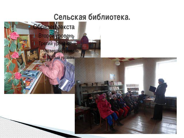 Сельская библиотека.