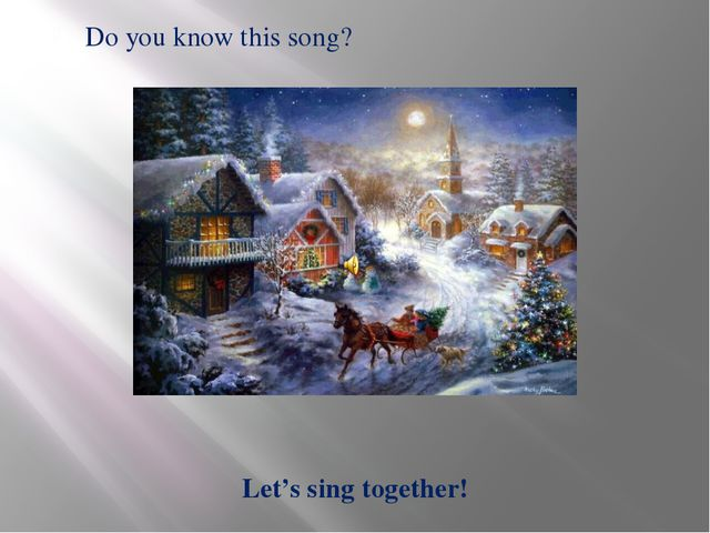 Let's sing together! Do you know this song?