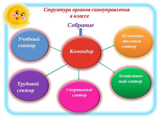 Структура органов самоуправления в классе Собрание