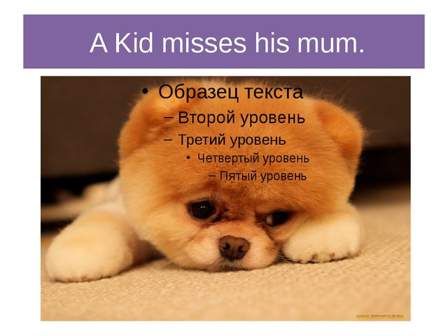 A Kid misses his mum.
