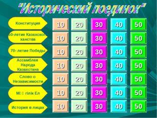 Конституция 550-летие Казахского ханства 70- летие Победы Ассамблея Народа Ка