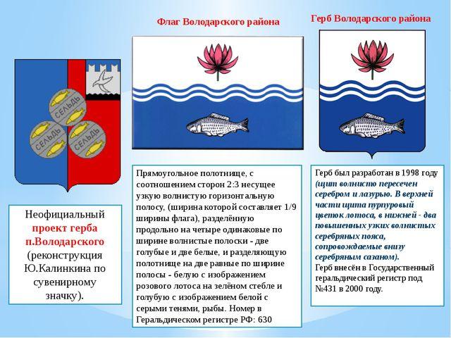 Неофициальный проект герба п.Володарского (реконструкция Ю.Калинкина по сувен...
