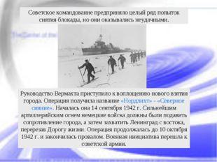 Руководство Вермахта приступило к воплощению нового взятия города. Операция п