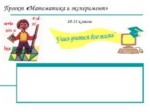 Проект «Математика и эксперимент» 10-11 классы