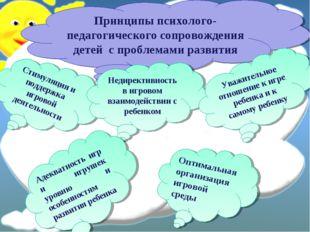 Принципы психолого-педагогического сопровождения детей с проблемами развития