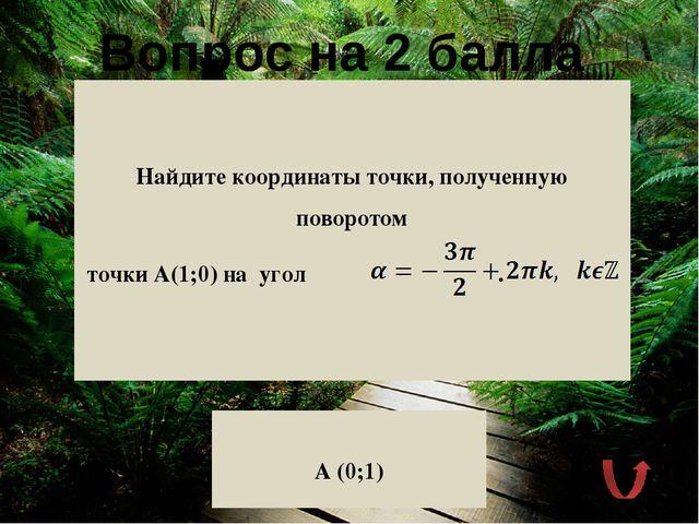 Вопрос на 2 балла Какова геометрическая интерпретация котангенса числового а...