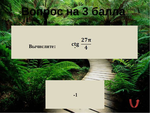 Вопрос на 2 балла Какова геометрическая интерпретация тангенса числового арг...