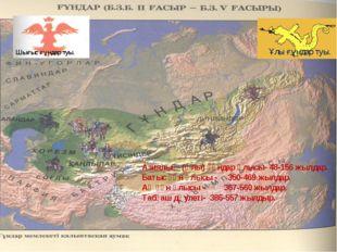 Ұлы ғұндар туы. Азиялық (Ұлы) ғұндар ұлысы- 48-156 жылдар. Батыс ғұн ұлысы -