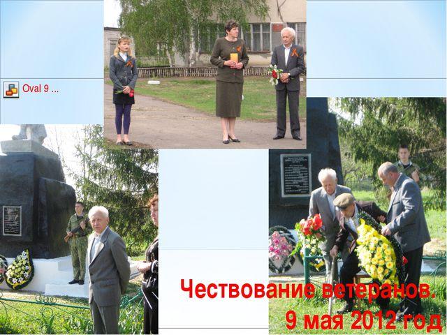 Чествование ветеранов. 9 мая 2012 год