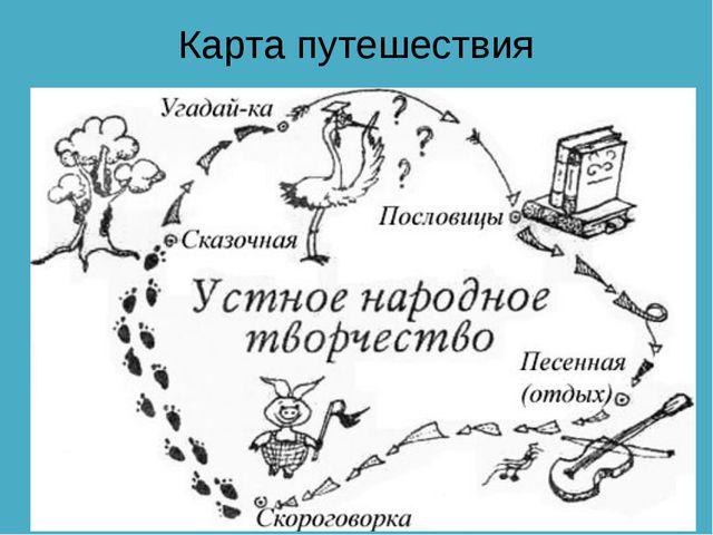 Карта путешествия