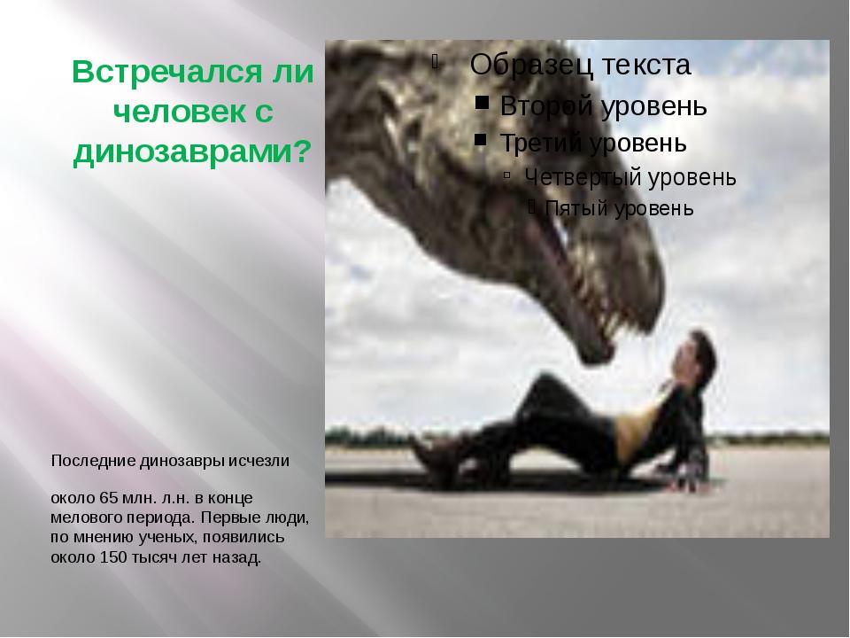 Встречался ли человек с динозаврами? Последние динозавры исчезли около 65 млн...