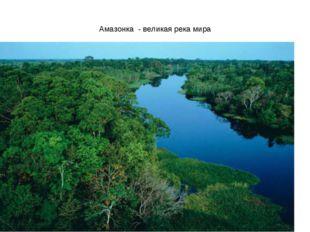 Амазонка - великая река мира