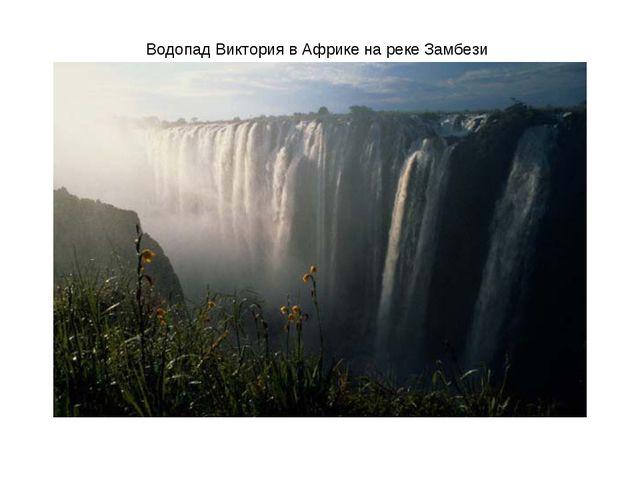 Водопад Виктория в Африке на реке Замбези