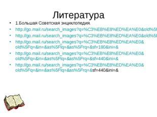 Литература 1.Большая Советская энциклопедия. http://go.mail.ru/search_images?