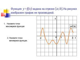 Функция y=f(x) задана на отрезке [a;b].На рисунке изображен график ее произво