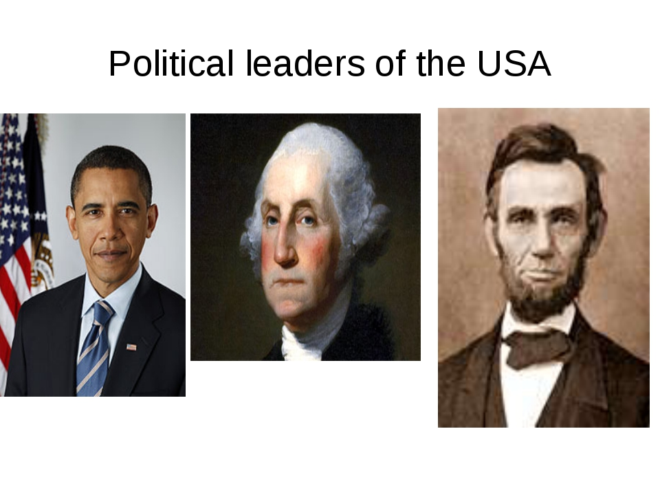 Political leaders of the USA