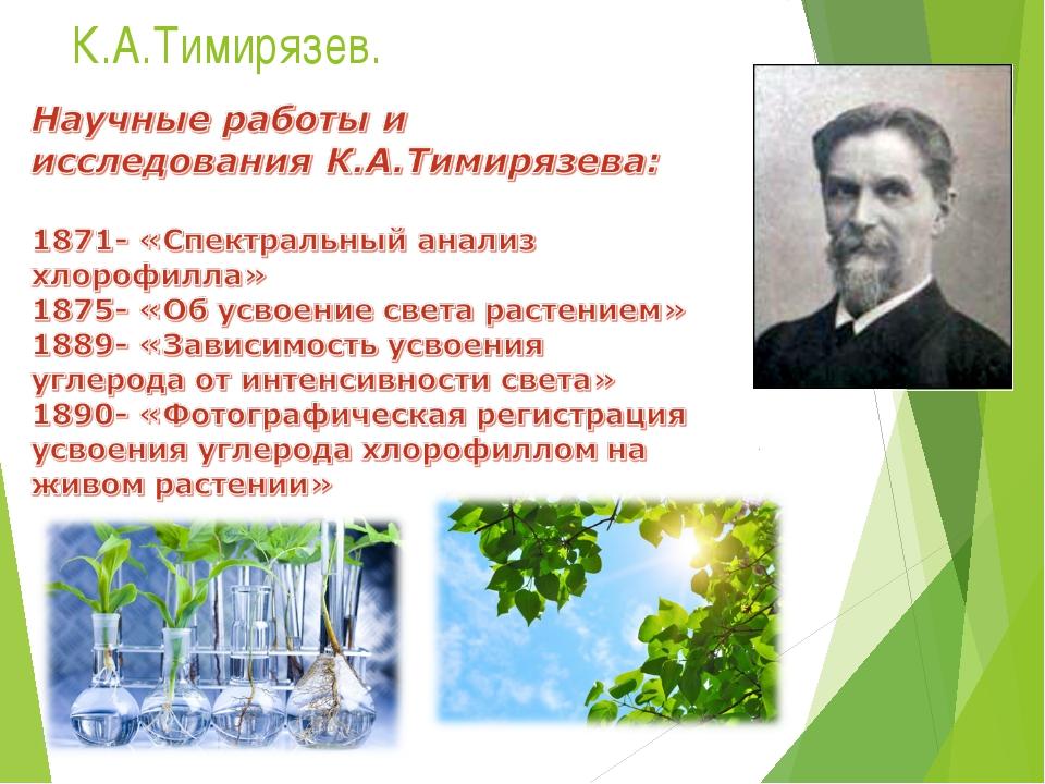 К.А.Тимирязев.