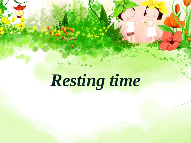 Resting time