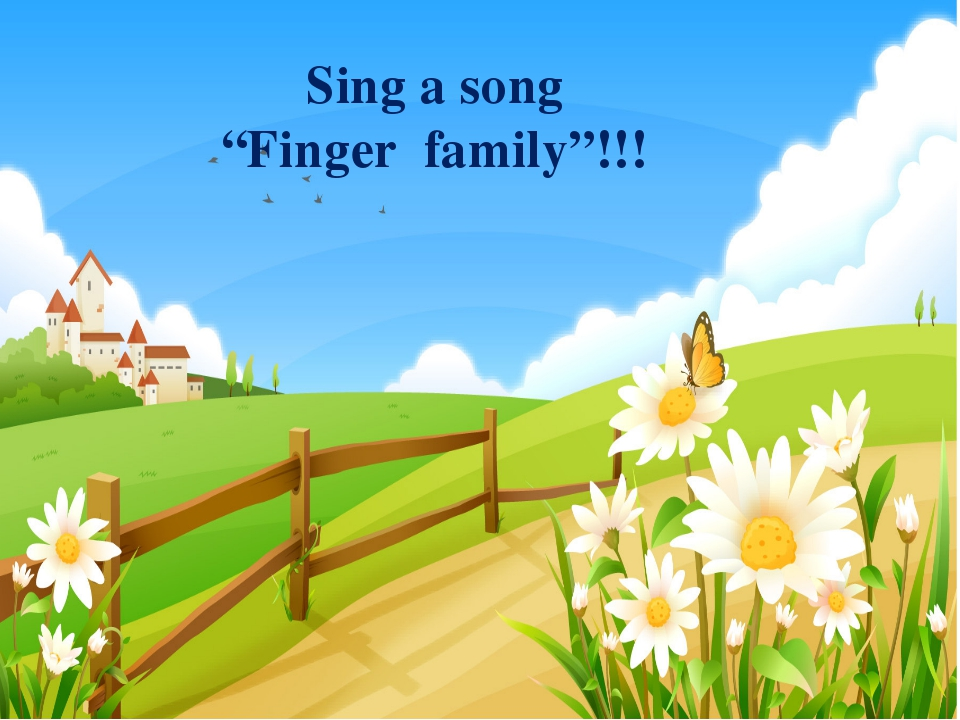 "Sing a song ""Finger family""!!!"