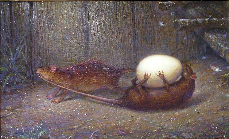 Майков Игорь. Две крысы,крадущие яйцо.