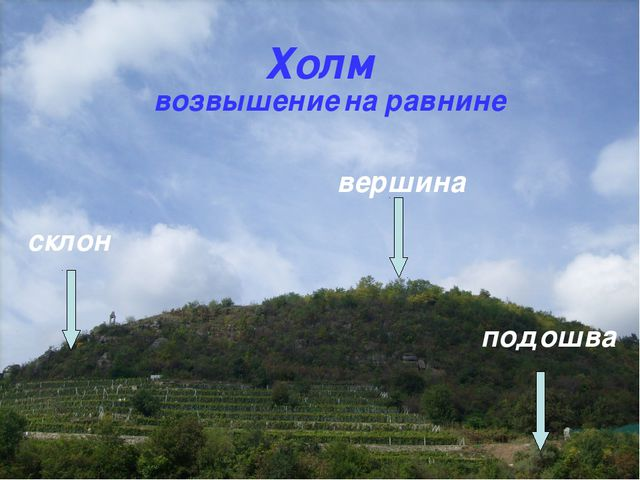 Холм возвышение на равнине