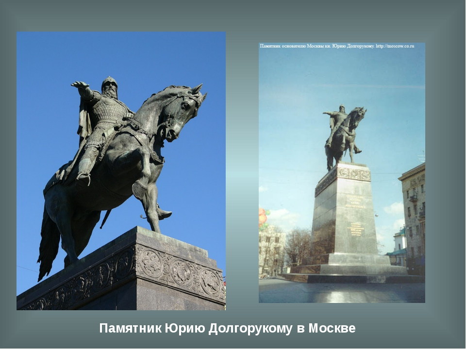 Памятник Юрию Долгорукому в Москве