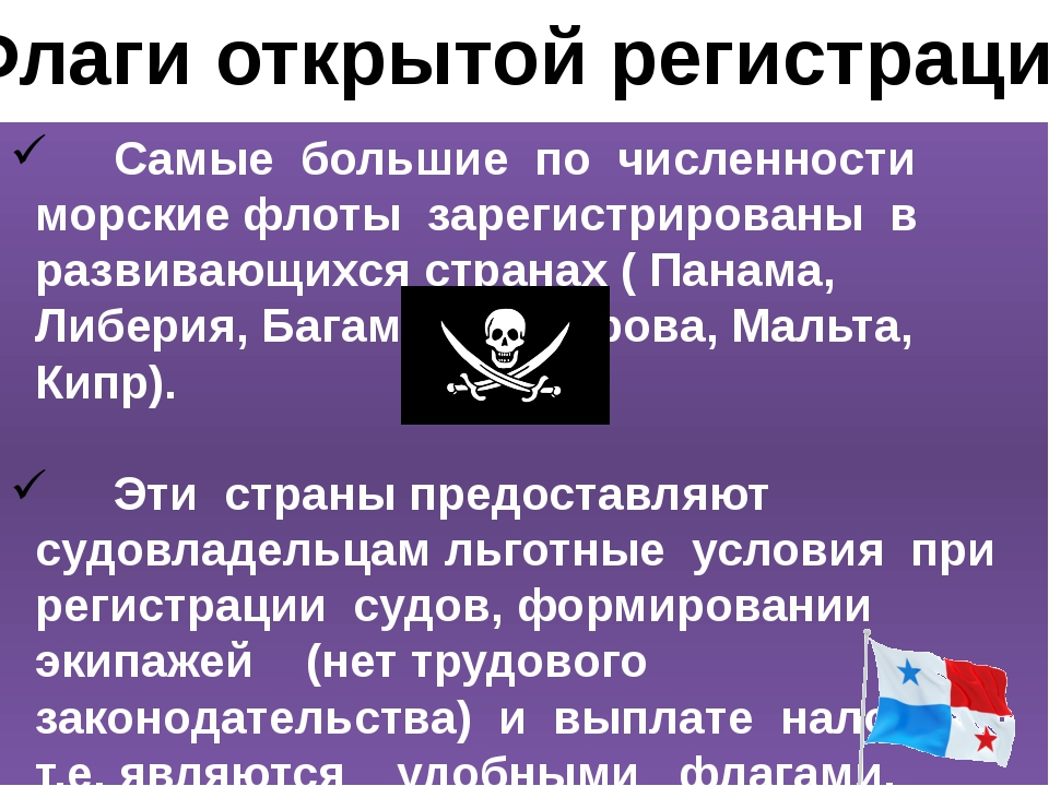 Флаги открытой регистрации Самые большие по численности морские флоты зарегис...