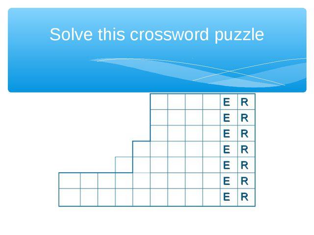 Solve this crossword puzzle