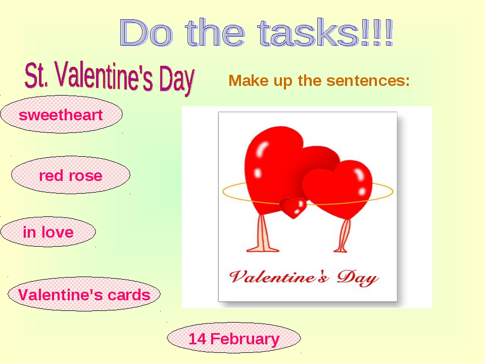 sweetheart red rose in love 14 February Valentine's cards Make up the sentenc...