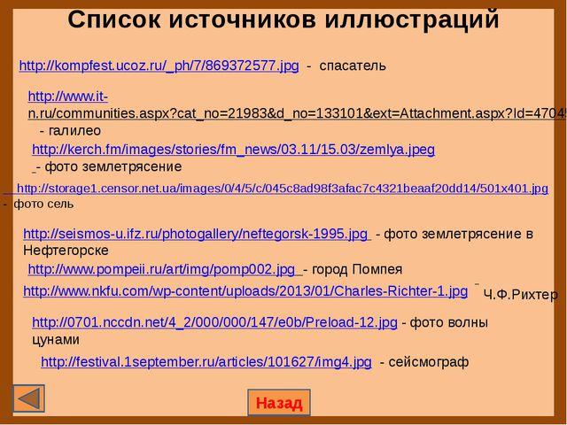 Список источников иллюстраций Назад http://kompfest.ucoz.ru/_ph/7/869372577....