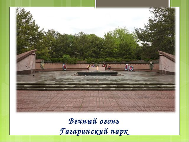 Вечный огонь Гагаринский парк