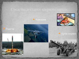 Авиация Ракеты Артиллерия Средства доставки ядерного заряда: