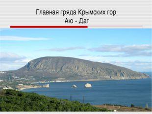 Главная гряда Крымских гор Аю - Даг