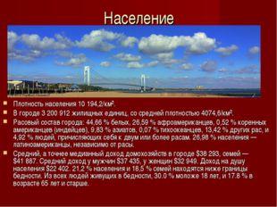 Население Плотность населения 10194,2/км². В городе 3200912 жилищных едини