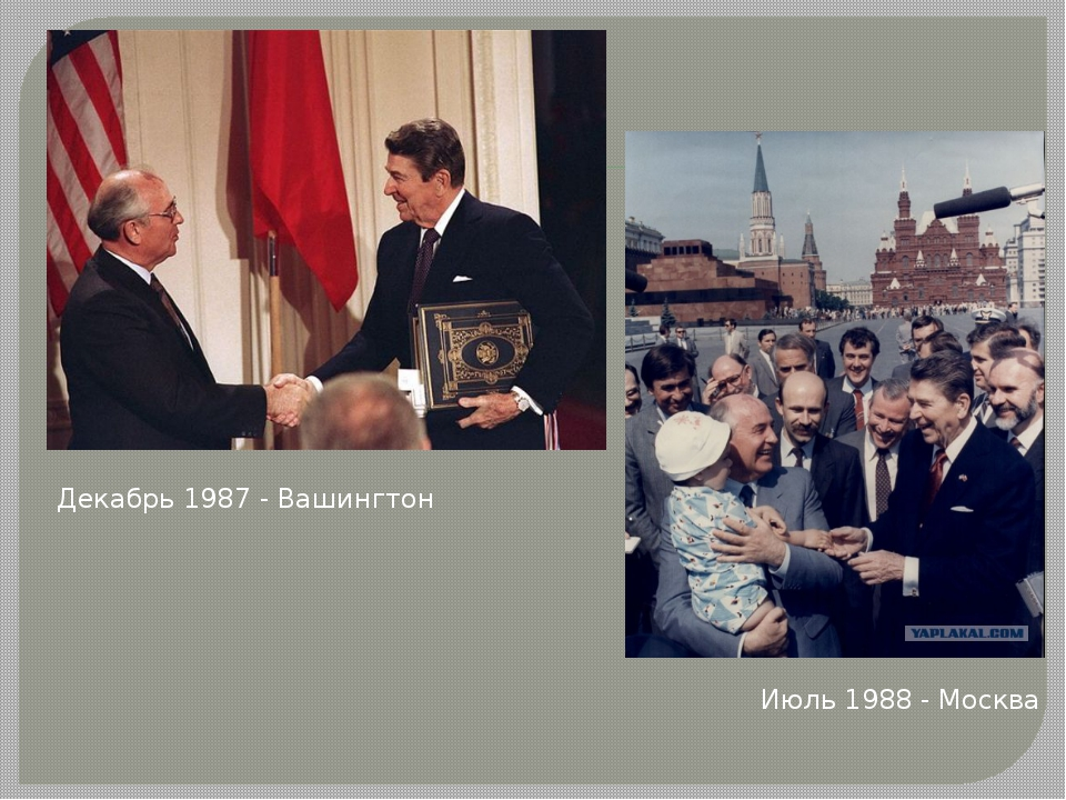 Декабрь 1987 - Вашингтон Июль 1988 - Москва