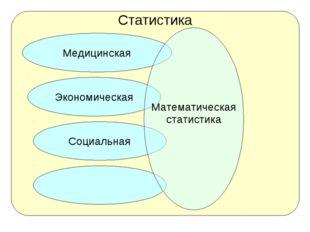 Статистика Экономическая Медицинская Социальная Математическая статистика