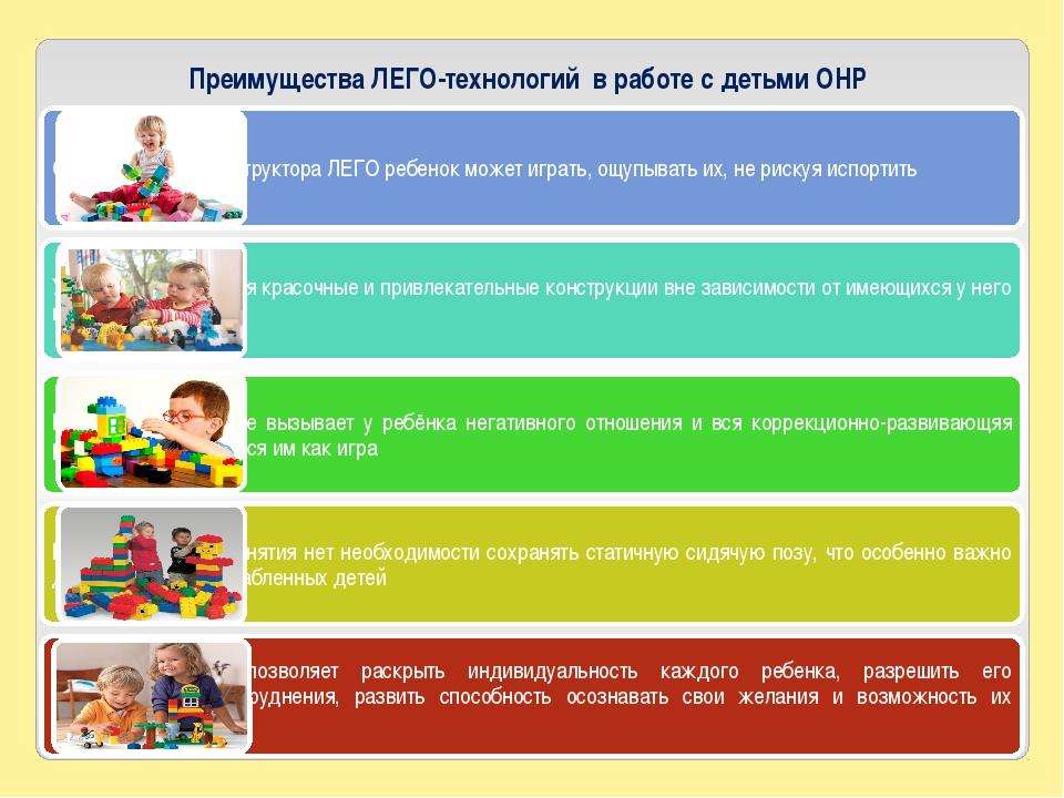 Преимущества ЛЕГО-технологий в работе с детьми ОНР