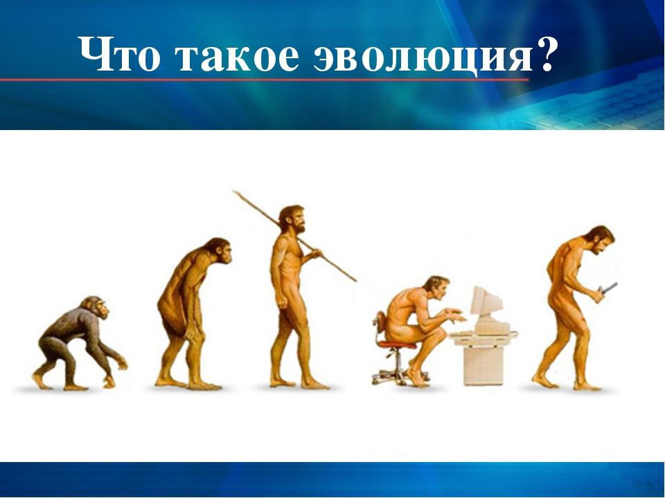 Что такое эволюция?
