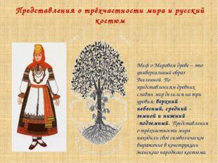 Представления о трёхчастности мира и русский костюм Миф о Мировом древе – это