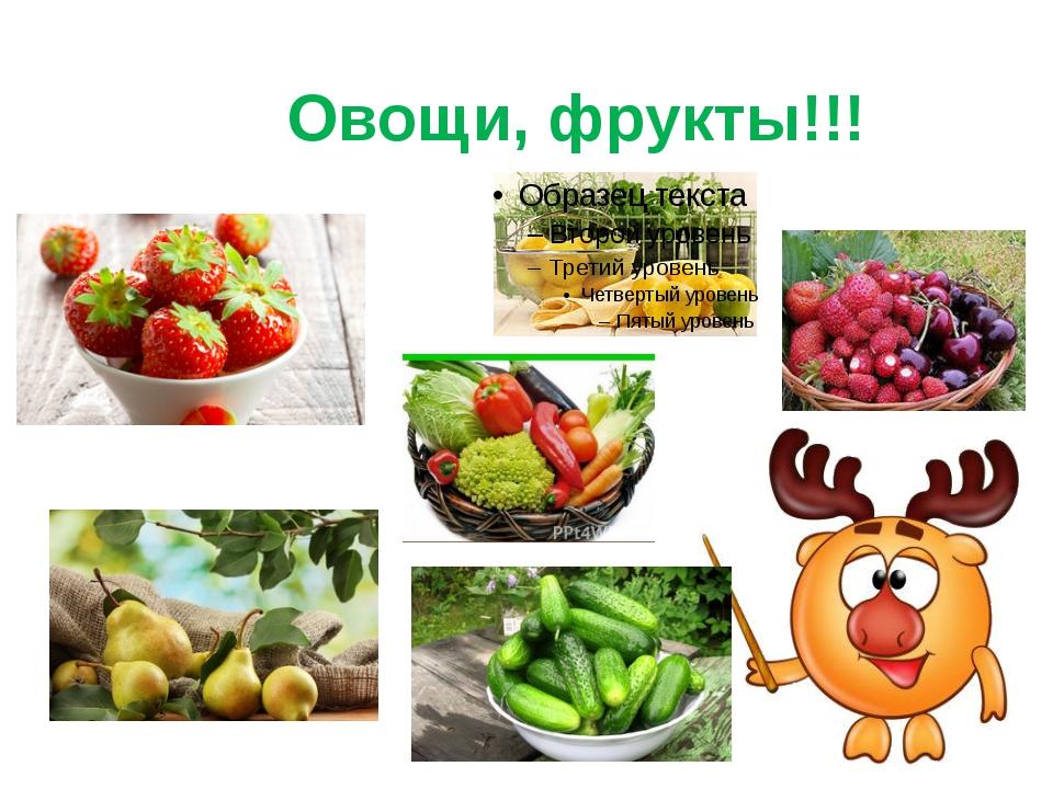 Овощи, фрукты!!!