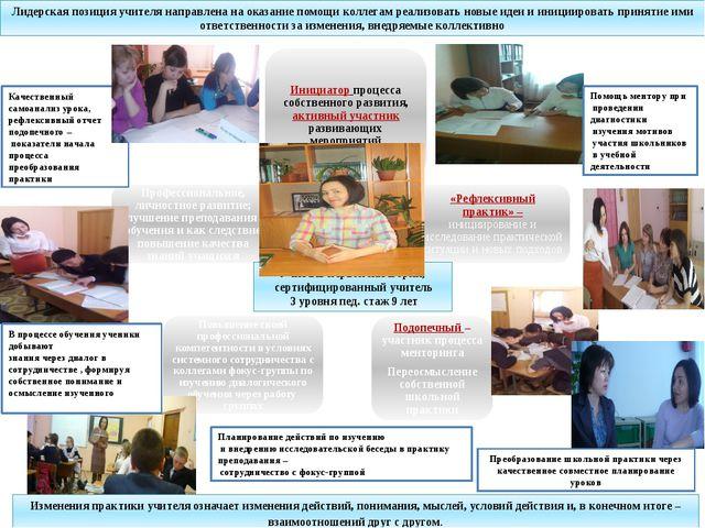 Качественный самоанализ урока, рефлексивный отчет подопечного – показатели на...