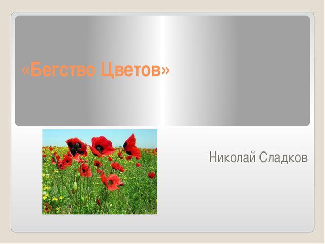 «Бегство Цветов» Николай Сладков