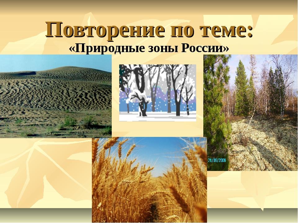 Повторение по теме: «Природные зоны России»